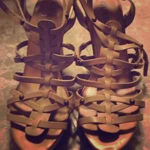 Guess wedge strap sandals